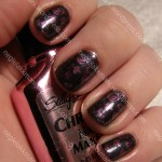China Glaze Black Diamond and SH Fuchsia Sapphire Chrom