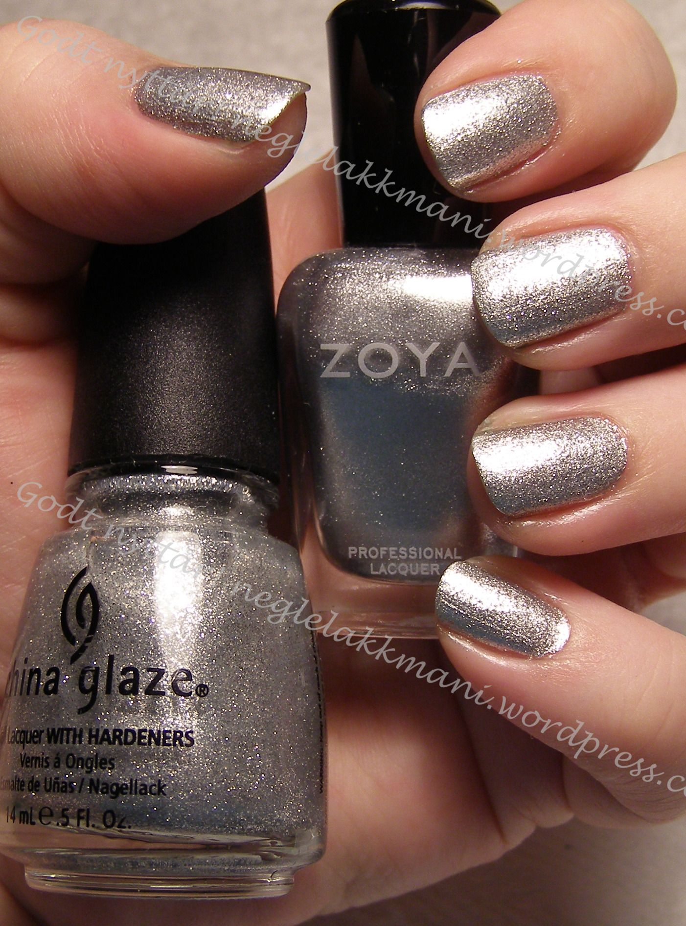 Zoya Trixie med China Glaze Tinsel