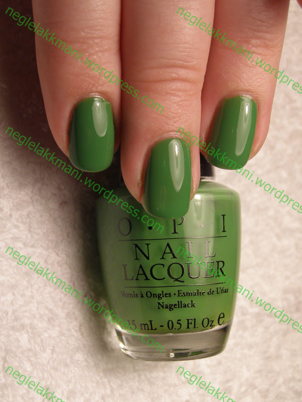Eplegrønne negler som gjør meg glad!