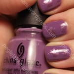 China Glaze Spontaneous med Harmony & Konad m20