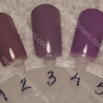 1. Cannelesque, China Glaze 2. Who's Wearing What, China Glaze 3. Done Out In Deco, OPI 4. Do You Lilac It?, OPI 5.Spontaneous, China Glaze