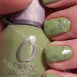 KOTD ORLY Green Apple med China Glaze Cherish og m57