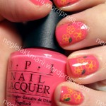 OPI That's Hot! Pink med Konad m26