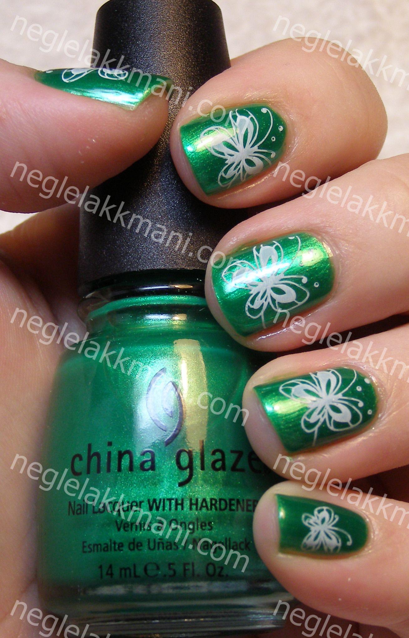 China Glaze Paper Chasing & Konad m50