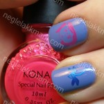 NOTD China Glaze Secret Peri-wink-le & Coraline Konad