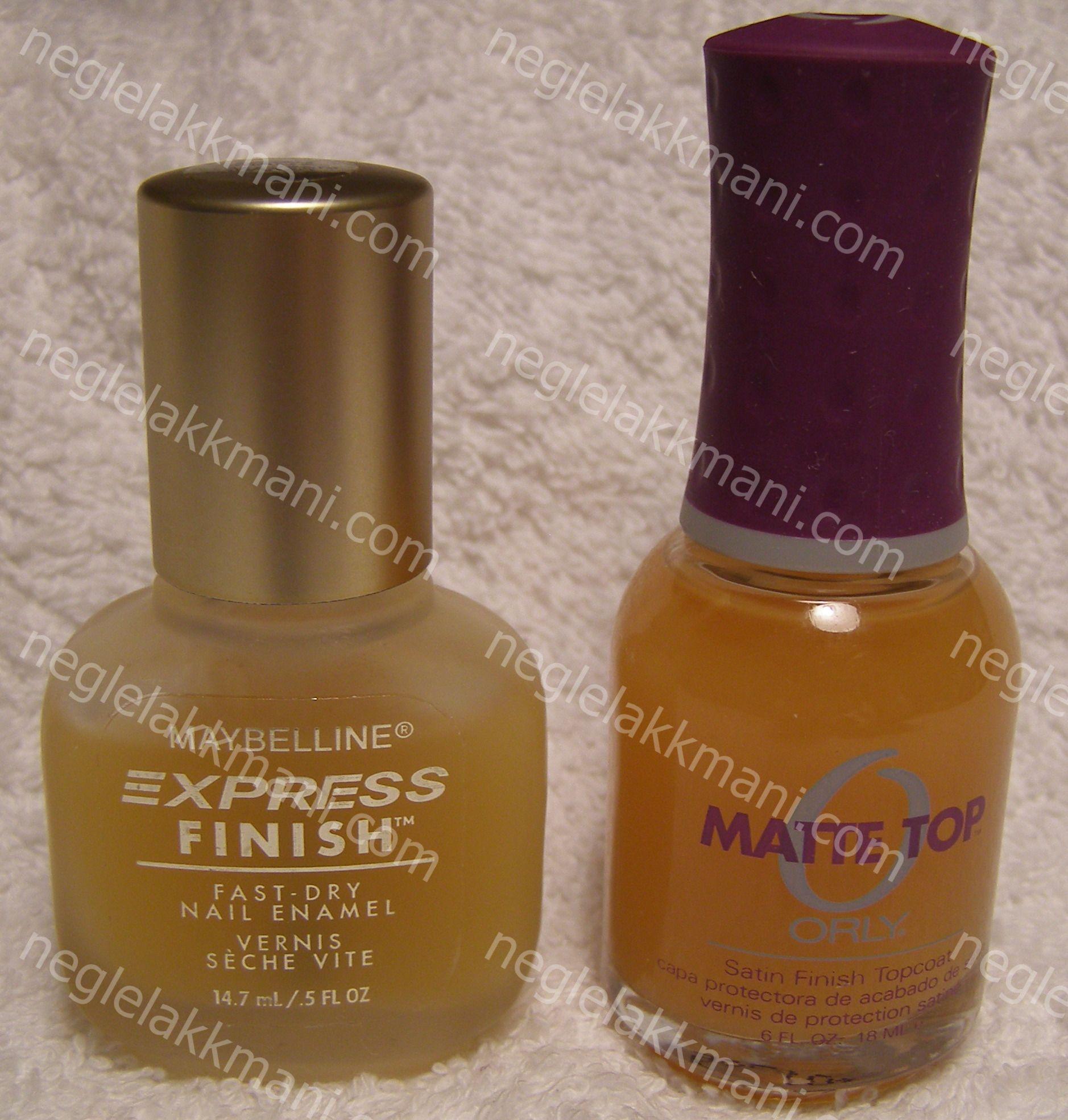 Maybelline Matte Top Coat/Orly Matte Top Coat