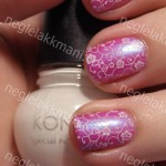 Color Club Ultra Violet & Konad m73