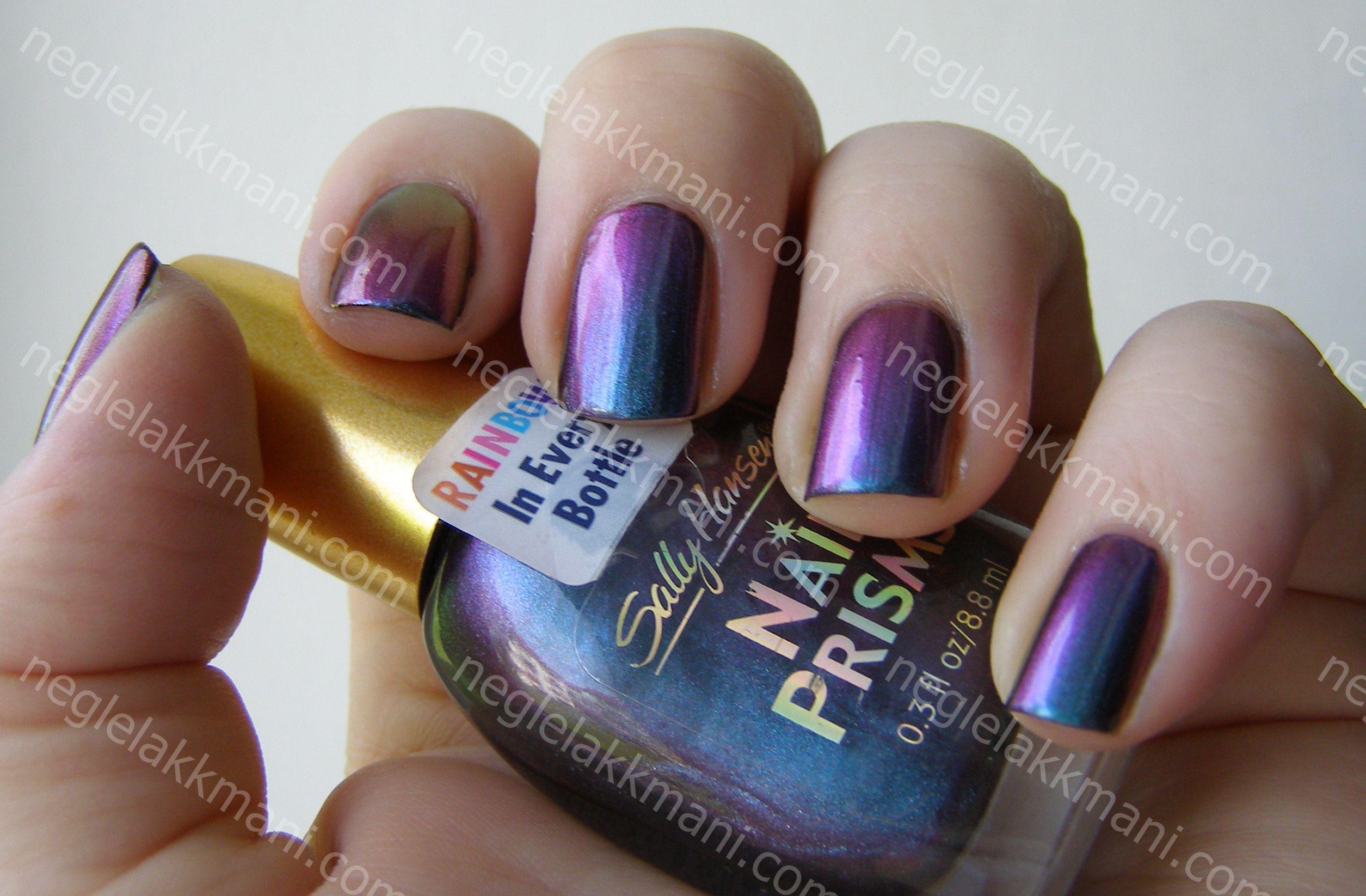 Sally Hansen Turquoise Opal over black