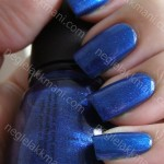 NOTD China Glaze Drinkin' My Blues Away & Konad S9