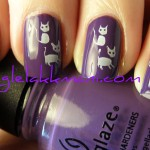 China Glaze Grape Pop & fauxnad Kittens