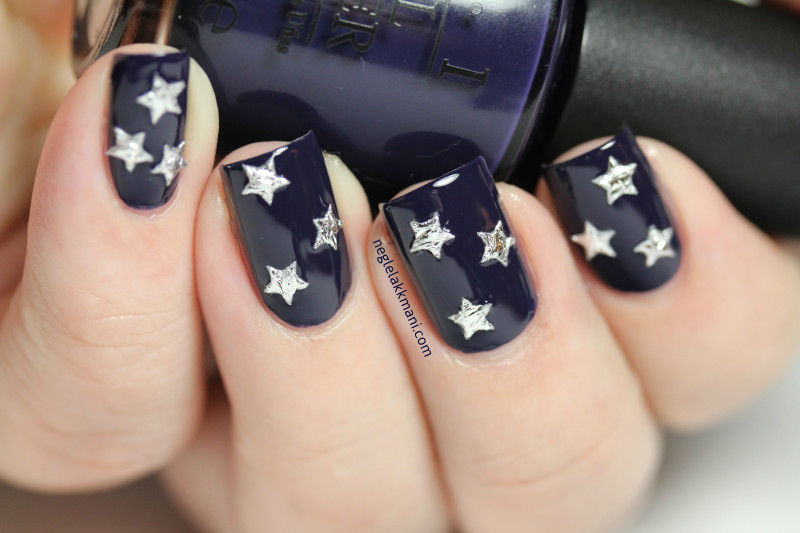 OPI Road House Blues with stars