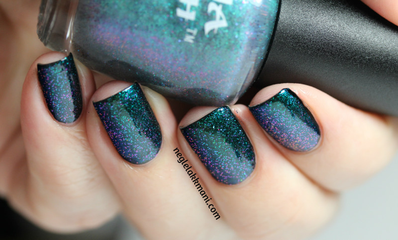 Ninja Polish Alexandrite over Illamasqua Boosh