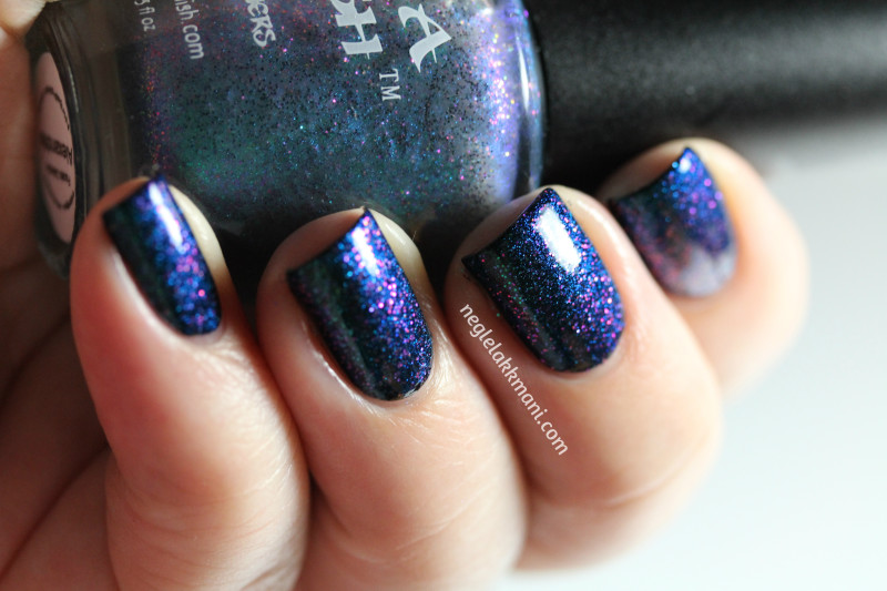 Ninja Polish Alexandrite over Illamasqua Boosh2