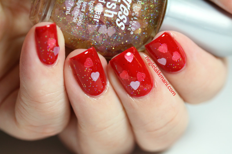 OPI red-y For The Cure Maybelline hearts 2