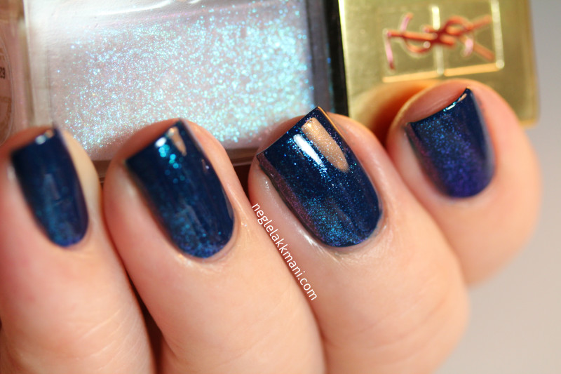 YSL Premiere Neige over blue