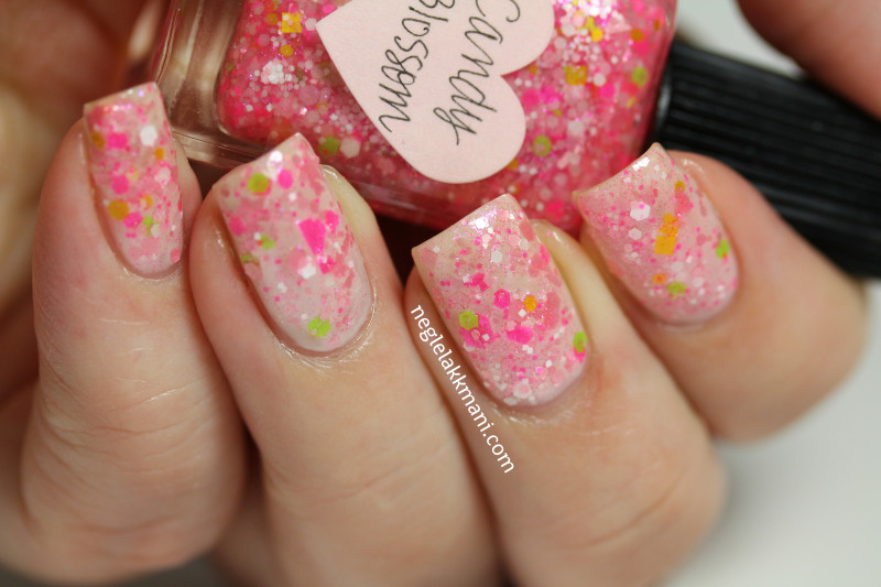 Lynnderella Candy Blossom over CND Cheeky