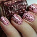 Soft glittery pastel