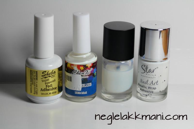 Nail adhesive for nail foils