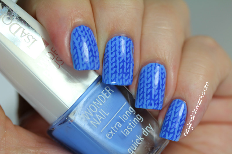 IsaDora Scuba Blue & Poolside stamped with VividLacquer VL004