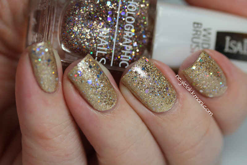 OPI Love.Angel.Music.Baby and IsaDora Holographic Nails Jet Setter