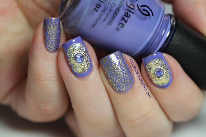 China Glaze What A Pansy, Stickers & Dashica Big SdP-B 2