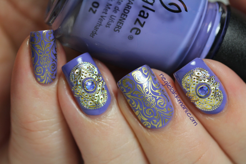 China Glaze What A Pansy, Stickers & Dashica Big SdP-B