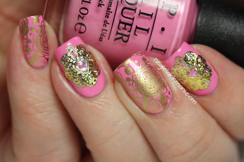 OPI Flamingo Tini Pink & MoYou Pro XL- 14